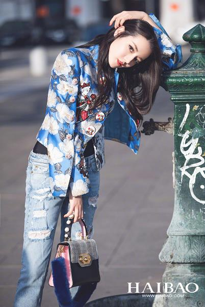 迪丽热巴 米兰街拍 美丽的Dolce&Gabbana大使又上线了