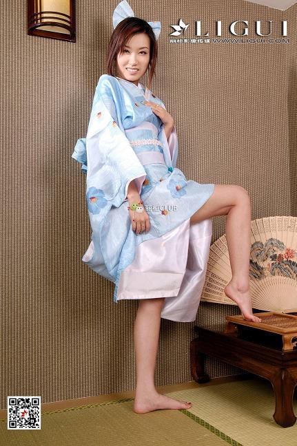 [Ligui丽柜会所]2018-05-09 Model 小惠 性感和服与美腿玉足私房写真集