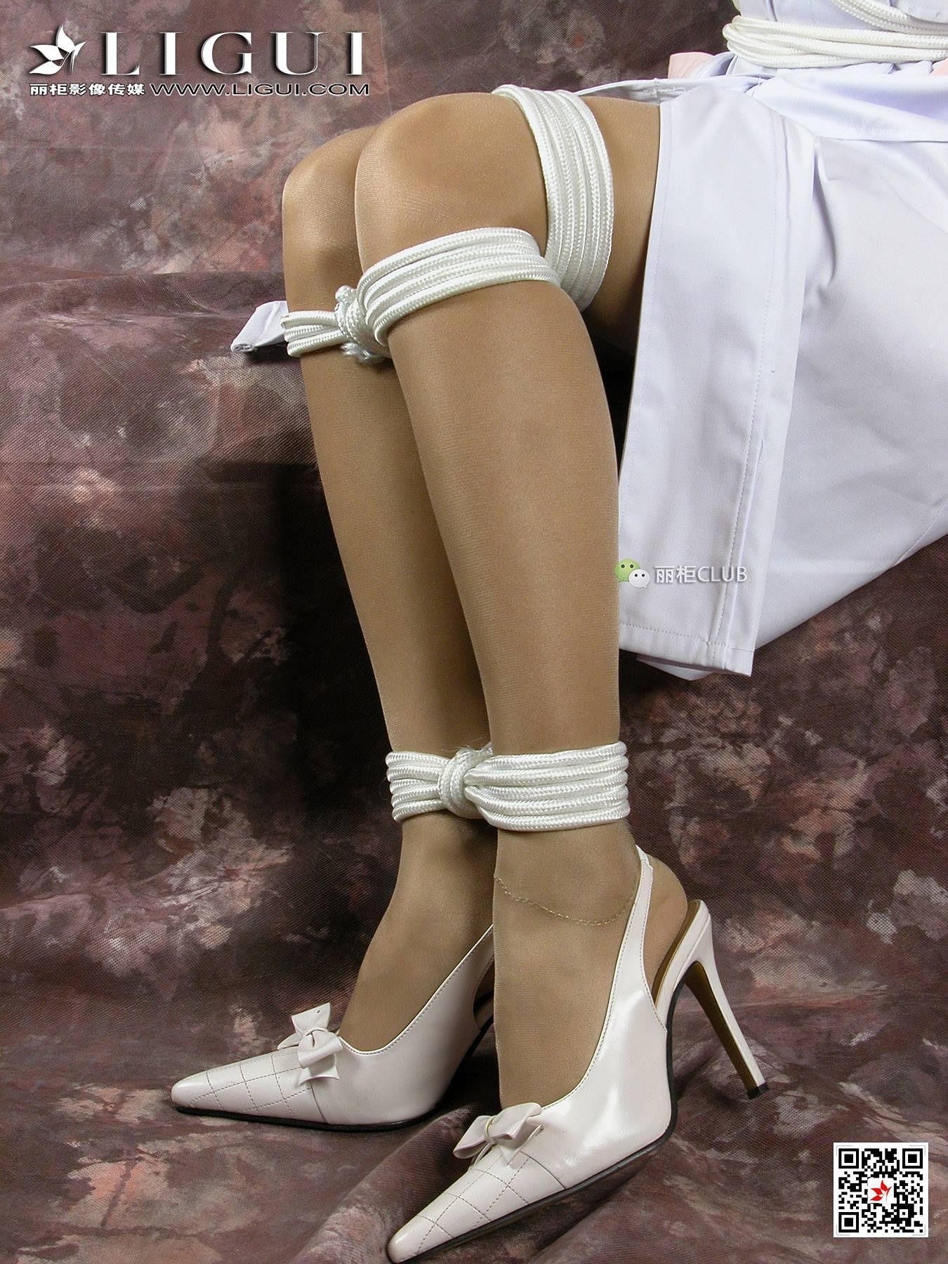 07 性感女护士 雅诗 灰色丝袜美腿玉足SM捆绑私房写真集 8图片