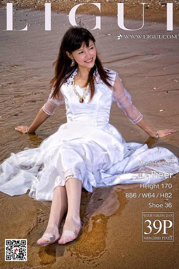 [Ligui丽柜会所]2018-05-16 Model 菲儿 白色连衣裙加肉色丝袜美腿玉足性感私房写真