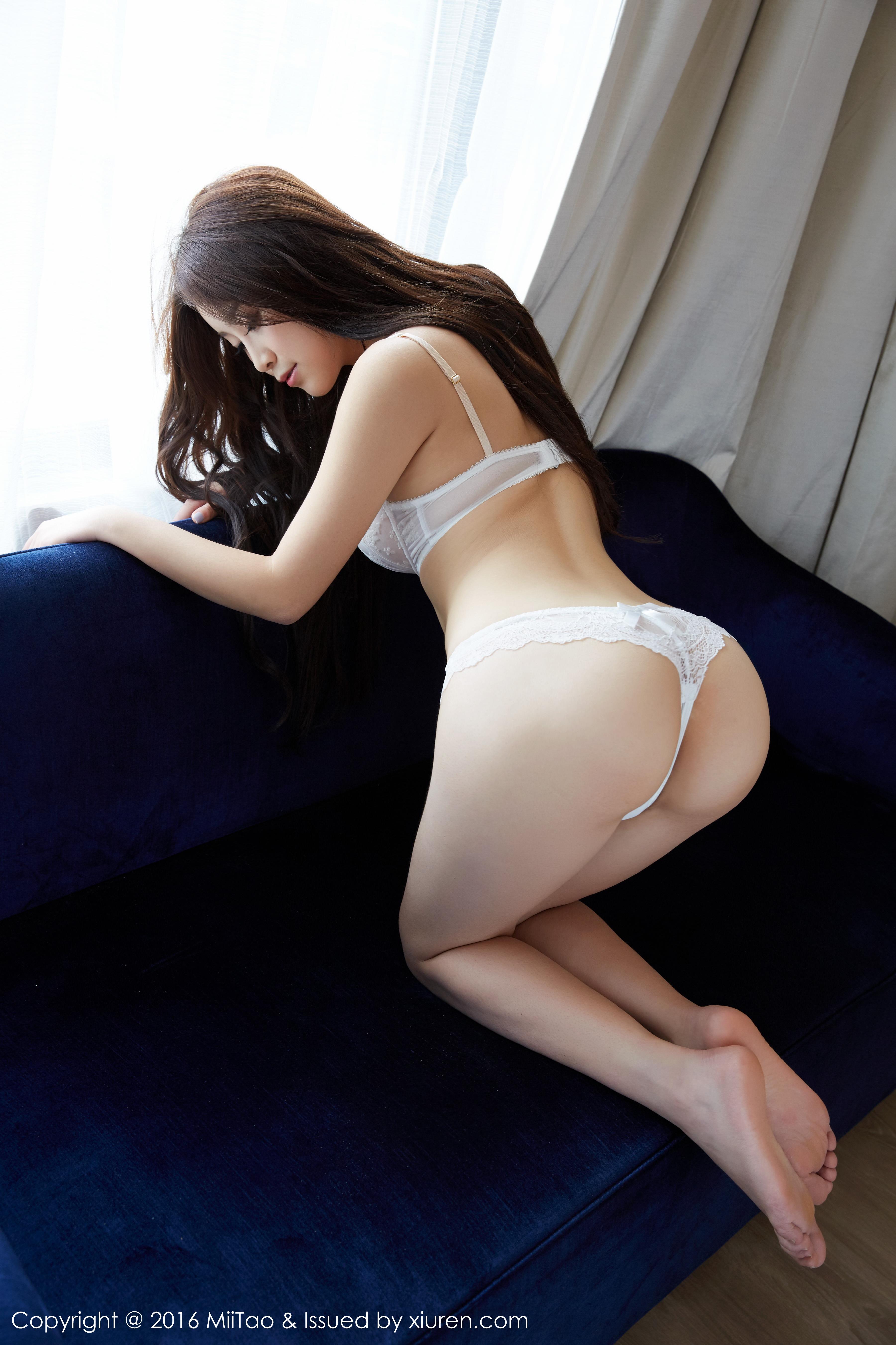 [MiiTao蜜桃社]MT20160822VOL0026 真希 白色性感透视蕾丝内衣私房写真集