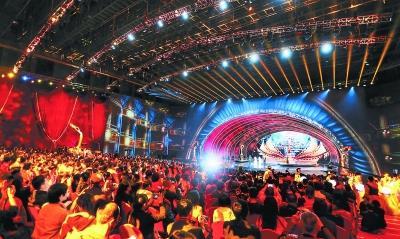 昨晚,第九届北京国际电影节在怀柔国家中影数字制作基地开幕。记者 张立朝摄