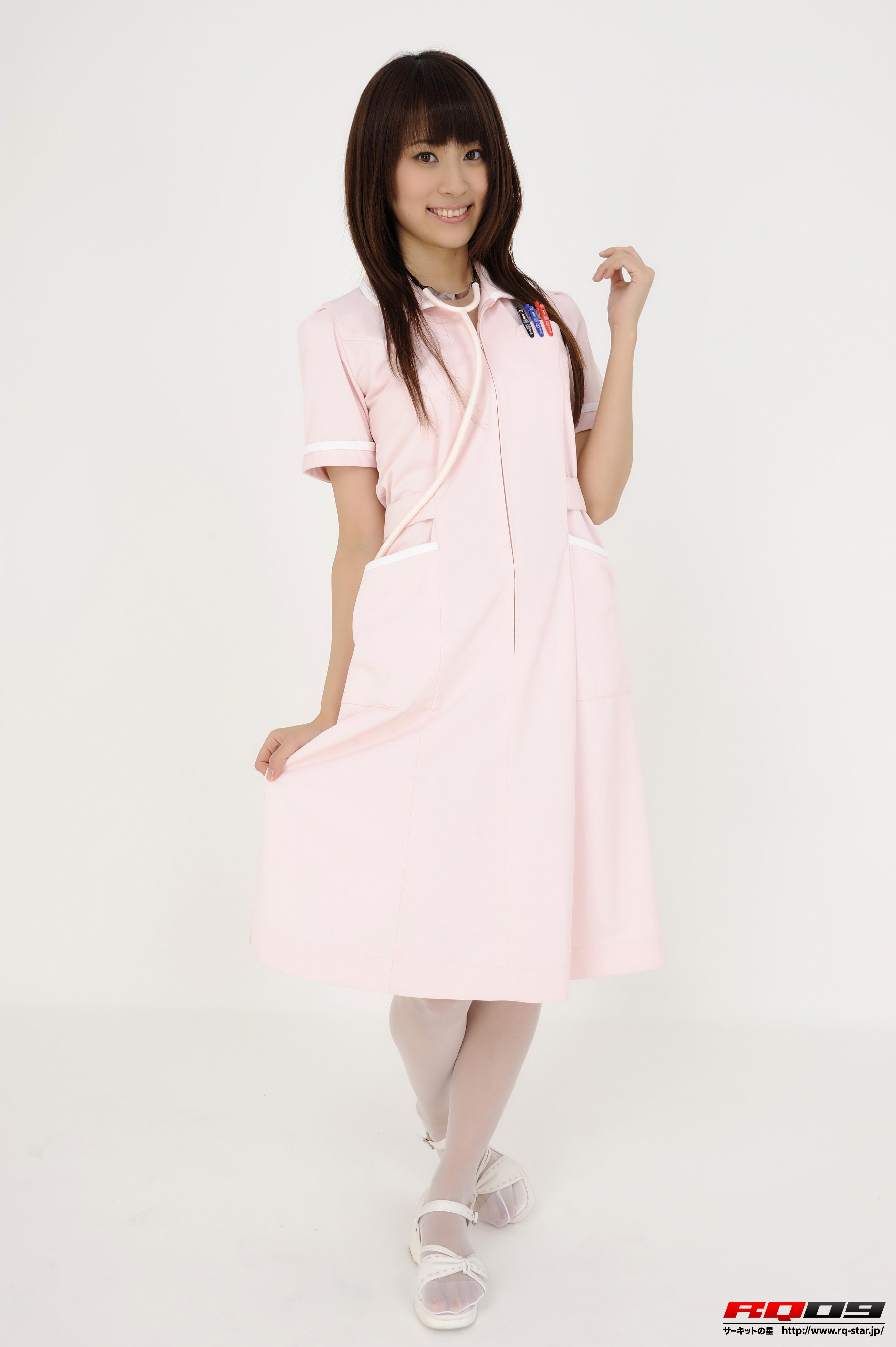 [RQ-STAR写真]NO.00148 林杏菜 Anna Hayashi 粉色性感女护士制服加粉色丝袜美腿私房写真集