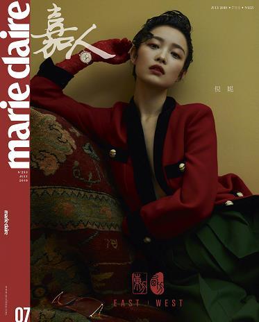倪妮梳油头拍摄杂志封面 化身古典摩登女郎风姿绰约