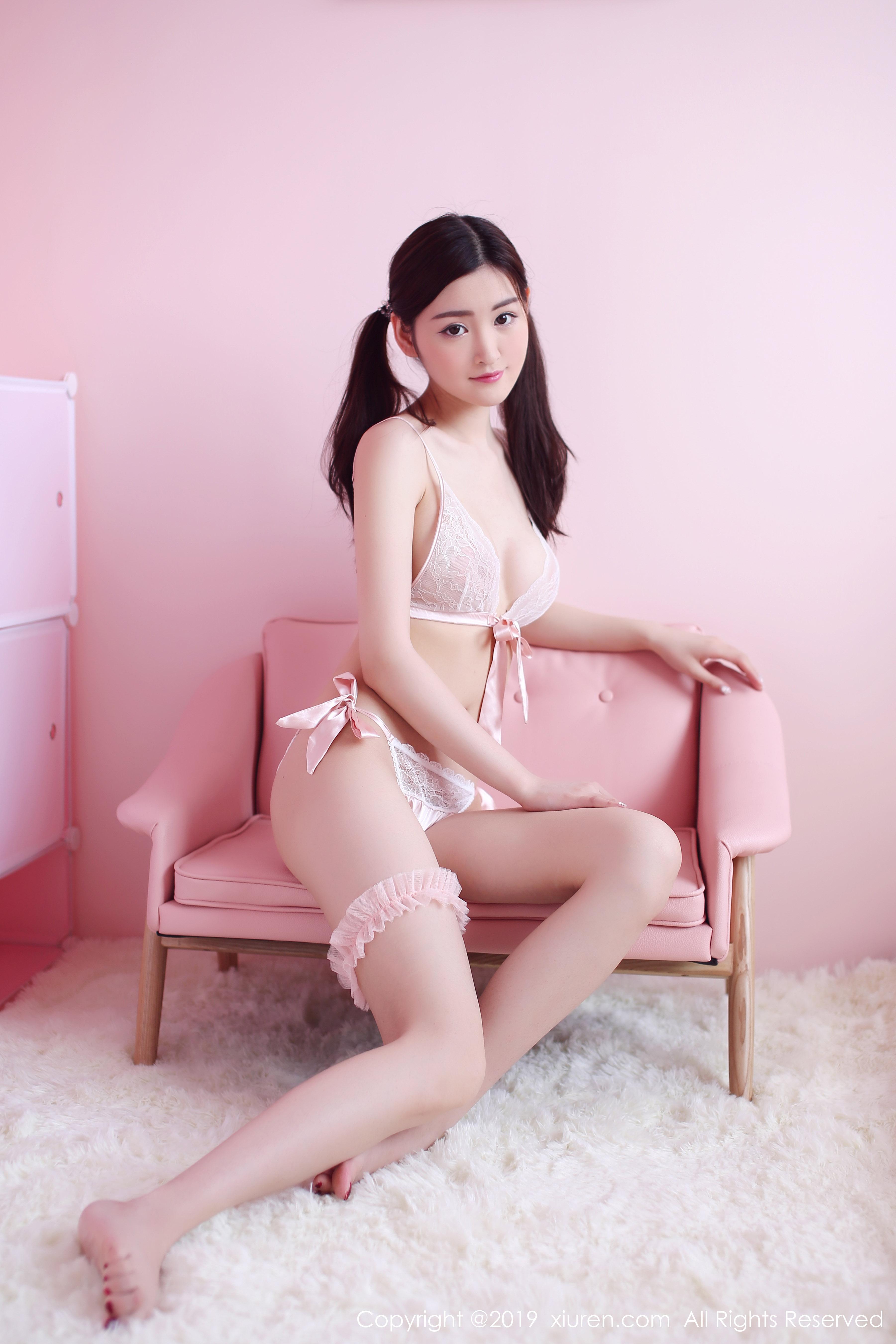 [Xiuren秀人网]XR20191219N01862 沈梦瑶 粉色透视情趣内衣性感私房写真集,