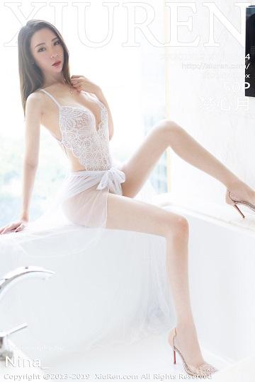 [XiuRen秀人网]XR20191219N01864 梦心月 白色透视情趣内衣加肉丝美腿性感私房写真集