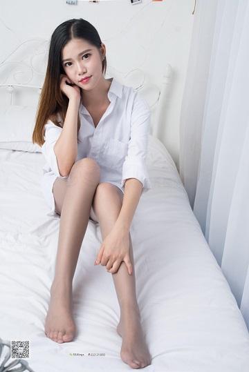 [SSA丝社]NO.006 酒店少女 姣姣 白色衬衫加灰色丝袜美腿性感私房写真集