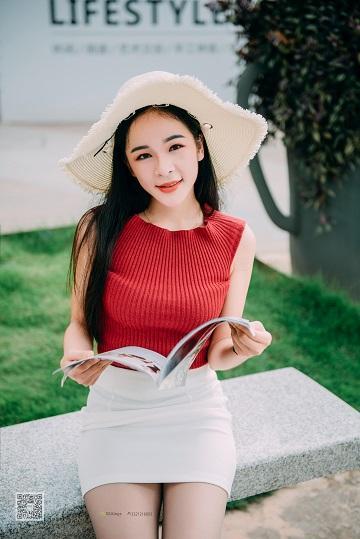 [SSA丝社]NO.007 清纯少女 nono 白色短裙加灰丝美腿街拍写真